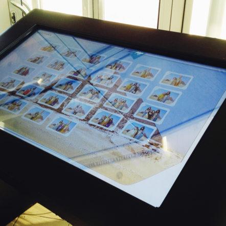 Фотостудия с зелёным фоном и интерактивный сенсорный стол на пивоварне