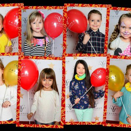Выездная фотостудия на детском кастинге в Галерее