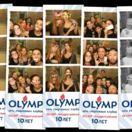 Фотобудка на дне рождения спортивного клуба Олимп